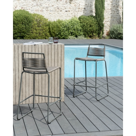 Tabouret de bar cordage synthétique