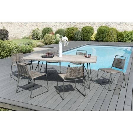 Salon de jardin n°303 comprenant 1 table à...