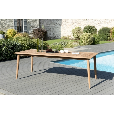 Table de jardin 8 pers - scandi 220 x 100 cms...
