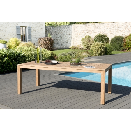 Table de jardin 8 pers - VIESTE 220 x 100 cms...