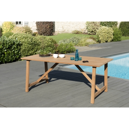 Table SOHO 180 X 90cm couleur naturelle en teck...
