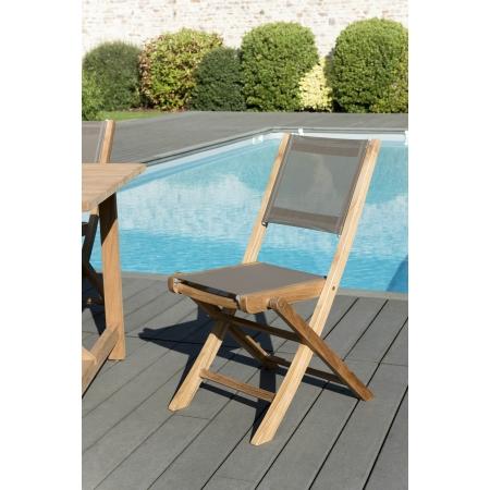 Lot de 2 chaises pliantes textilène couleur...