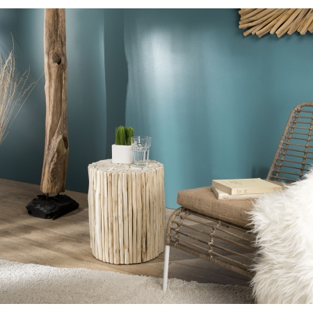 Table d'appoint ronde nature petites branches