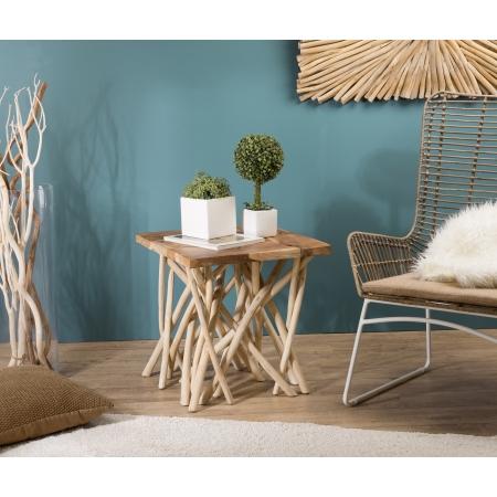 Table d'appoint bois nature - plateau Teck...