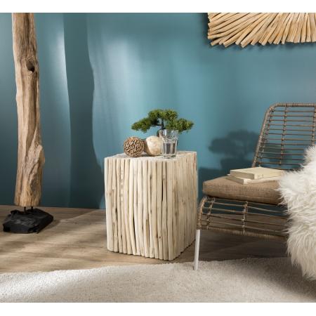 Table d'appoint bois carrée nature petites...