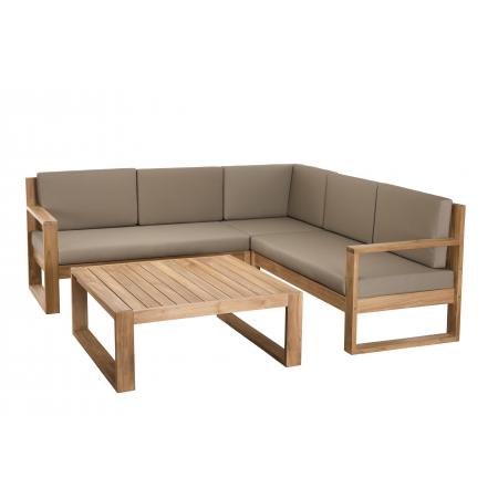 Salon de jardin bois ACAPULCO - Ensemble de 3...