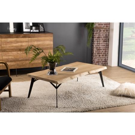 Table basse bois rectangulaire 130x70cm Chêne...