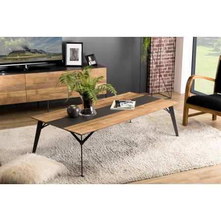 Table basse rectangulaire 140x70cm Teck recyclé...