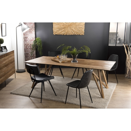 Table à manger bois 220x100cm Teck recyclé...