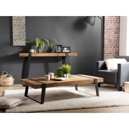 Table basse rectangulaire 140x70cm Teck recyclé...