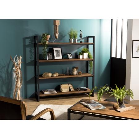 Etagère bois Recto-Verso 150x40cm 4 niveaux...