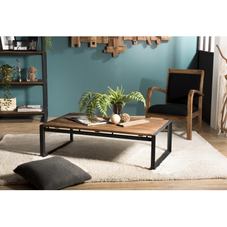 Table basse bois rectangulaire 120x70cm Teck...