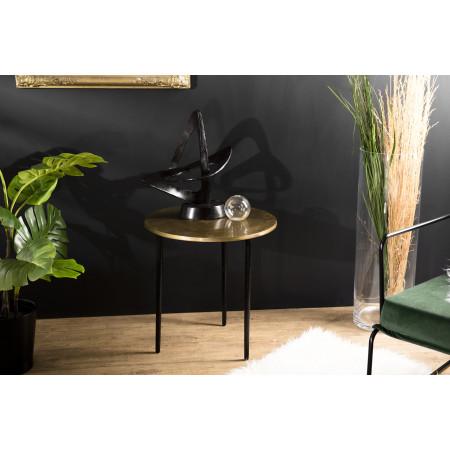 Table d'appoint ronde 51x51cm aluminium doré