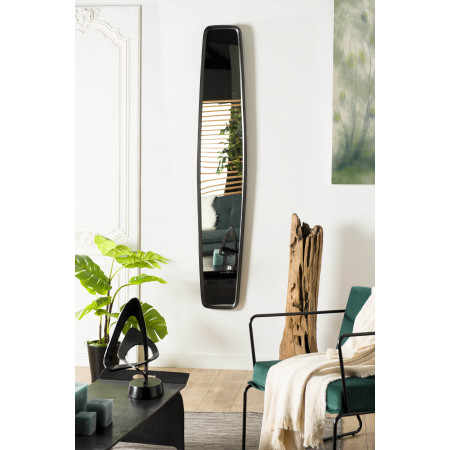 Miroir 32x177cm aluminium noir