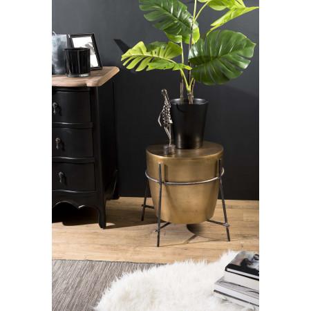 Table d'appoint ronde 45x45cm aluminium doré...