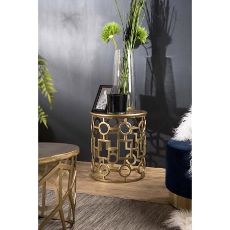 Table d'appoint ronde 43x43cm aluminium doré...