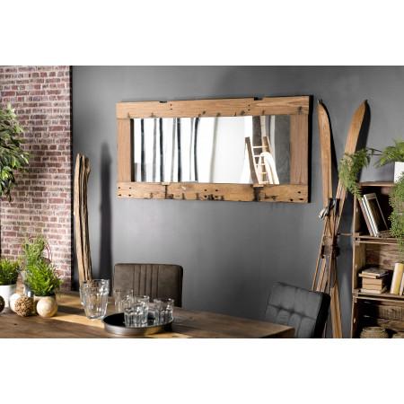 Miroir rectangulaire 80x170cm bois recyclé -...