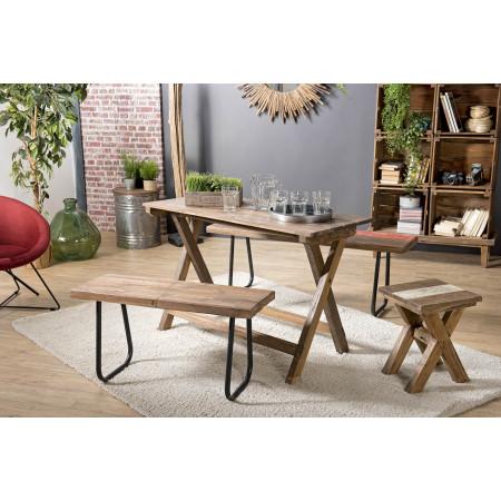 Table pliante bois 120x52cm Mahogagny - esprit...