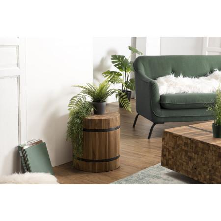 Table d'appoint bois ronde 40x40cm Teck recyclé...