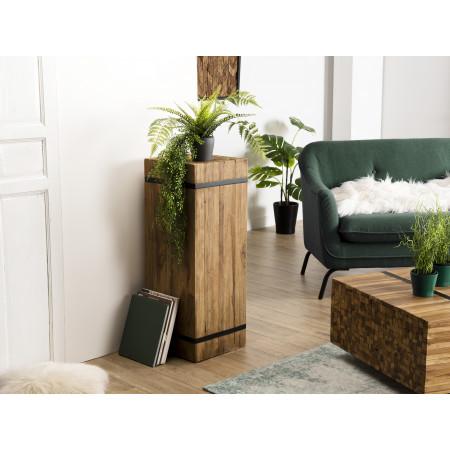 """Table d'appoint bois carrée """"L"""" Teck recyclé..."""