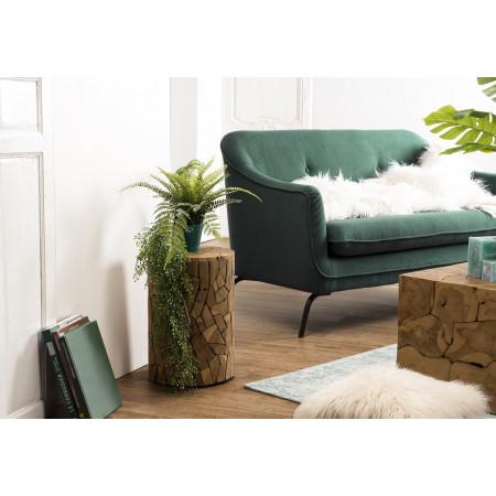 Table d'appoint bois ronde mozaïc 30x30cm Teck