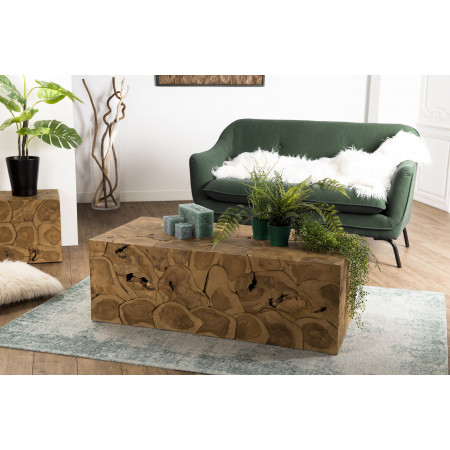 Table basse bois 120x60cm Teck nature