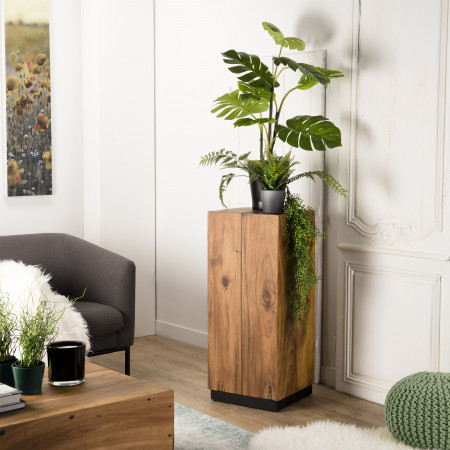Table d'appoint bois carrée haute 38x38cm bois...