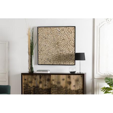 Décoration murale bois carrée 100x100cm...