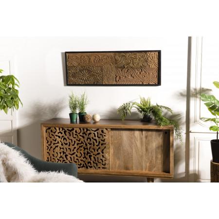 Décoration murale bois rectangulaire Teck...