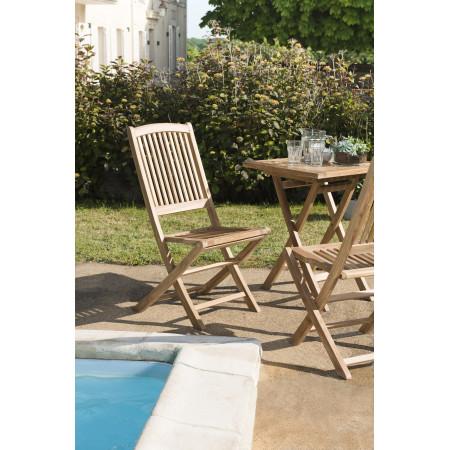 Lot de 2 chaises lombock en bois teck grade A