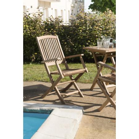 Lot de 2 fauteuils lombock en bois teck grade A