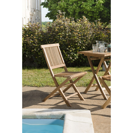 Lot de 2 chaises java en teck grade A