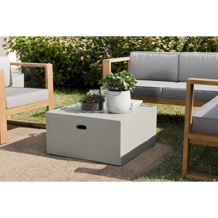 Table basse carrée 68x68cm béton