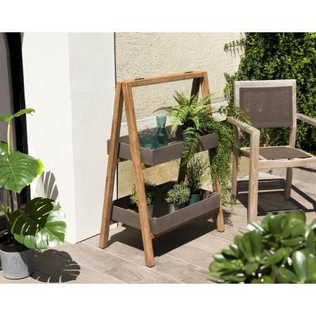 Porte-plantes, étagère en résine, effet Béton...