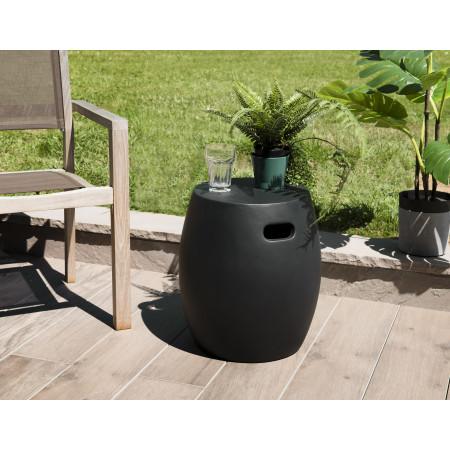 Table d'appoint ronde béton 42x42cm noir