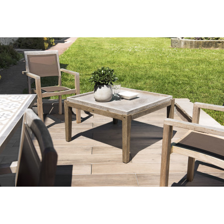 Table basse de jardin carrée béton 83x83 cm...