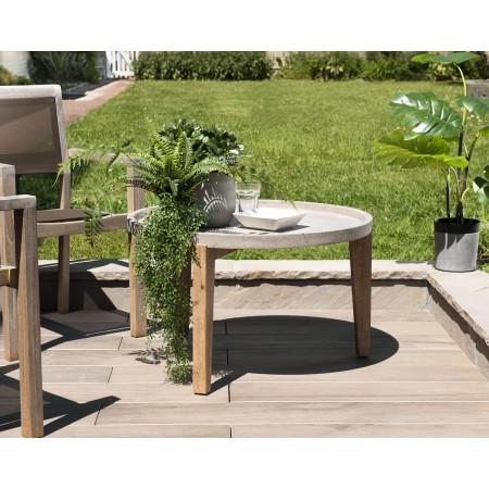 Table basse de jardin ronde béton 81x81 cm...
