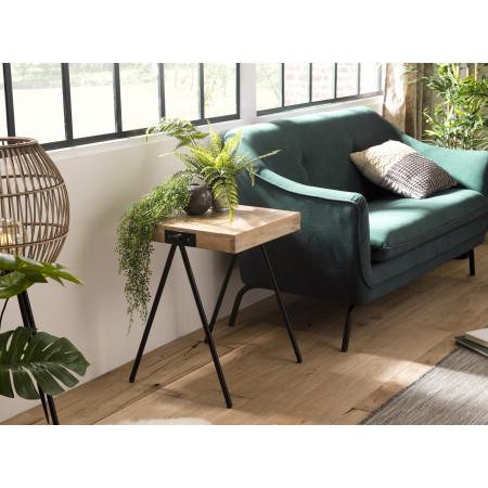 Table d'appoint bois carrée Manguier pieds...