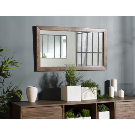 Miroir bois 100x55cm