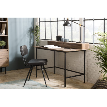 Bureau bois 2 tiroirs plateau étagère Acacia...