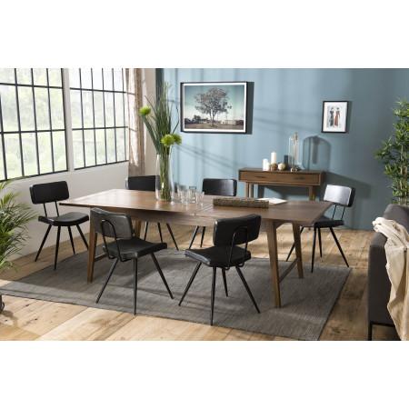 Table à manger extensible 200/240cm bois Mindi