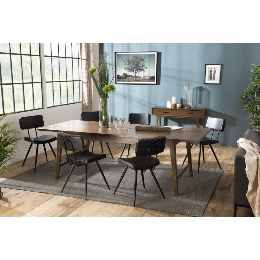 Table À Manger Nordique table à manger extensible 200/240cm bois mindi