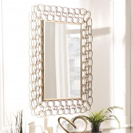 Miroir rectangulaire métal doré