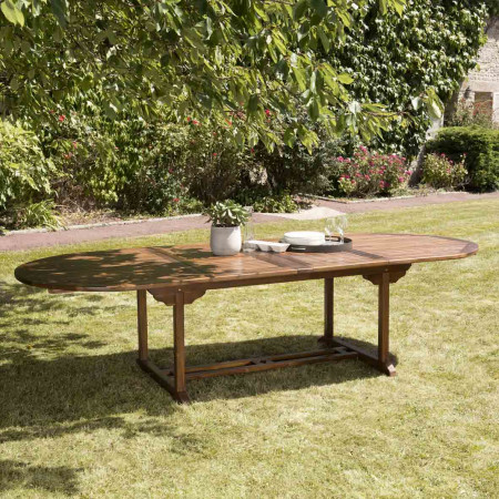 Table de jardin 10/12 personnes - ovale double...