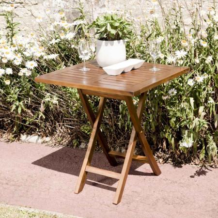 Table de jardin 2 personnes - carrée pliante 70...