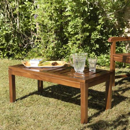 Table basse de jardin -  100 x 50 cm en bois...