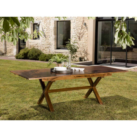 Table de jardin 8/10 personnes - rectangulaire...