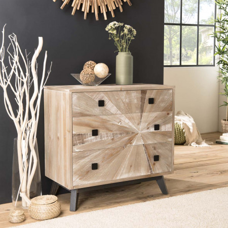 Commode scandi 4 tiroirs