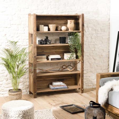 Etagère 5 niveaux bois Pin recyclé