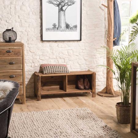 Etagère / Rangement chaussures 2 niches bois...